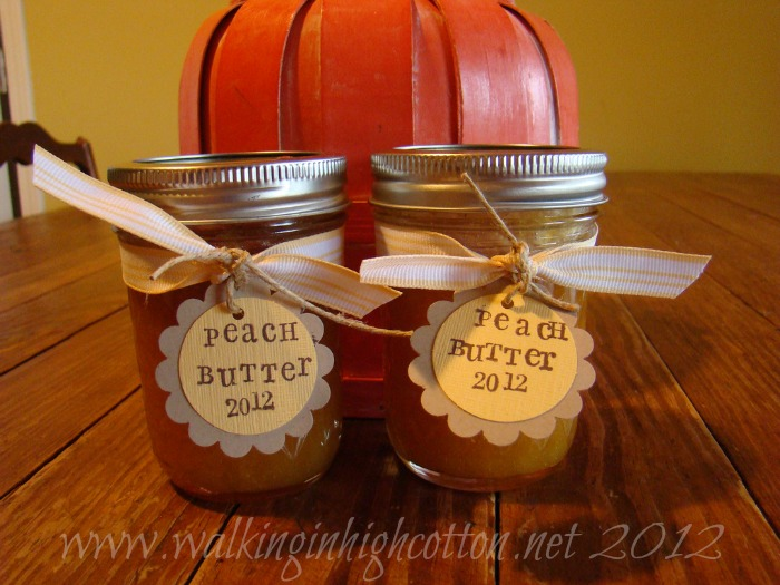 Canning peach butter @ Walking in High Cotton (Simple water bath project for beginners.)
