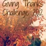 Giving Thanks Challenge 2012