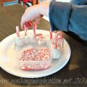 Candy Cane Hot Chocolate Stir Sticks (a Pintrest Holiday project) at Walking in High Cotton