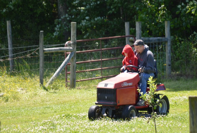 There was a lot of mowing going on this past weekend!