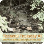 Grace for the Hard Days…Thankful Thursday #1