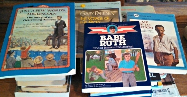 Our recent library book sale finds!