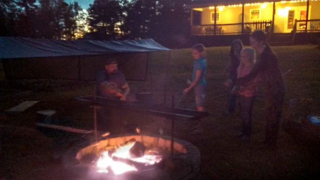There's something magic about a campfire. Once it was lit, the girl's pretty much never wanted to leave it.