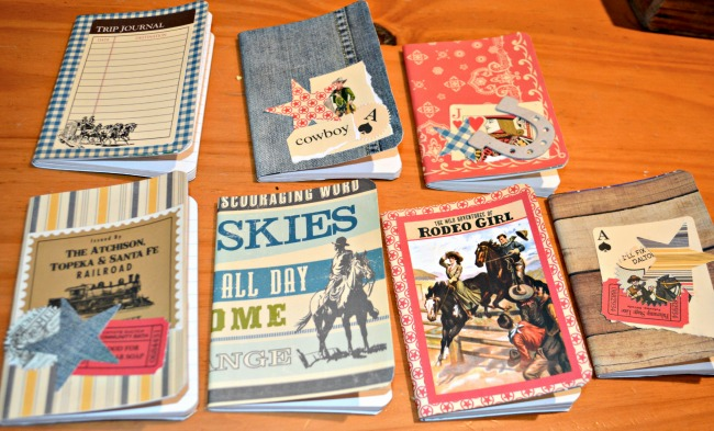 #cowboy #western themed birthday party mini notebooks