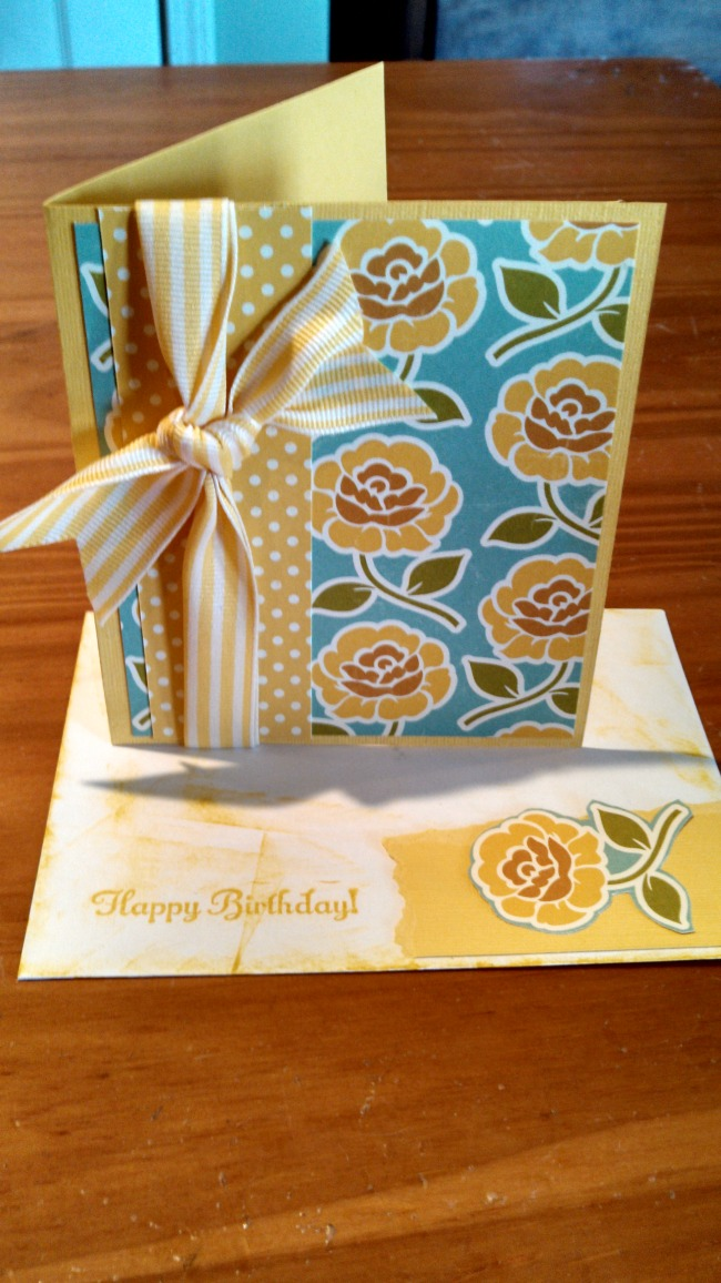 I used with Daffodile Delight from Stampin' Up for this one.