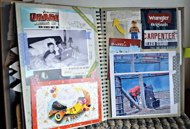 smashbook journaling {Walking in High Cotton} 1