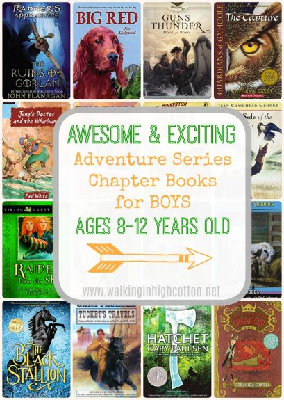 25 Adventure Chapter Book Series for Boys 8-12 yo