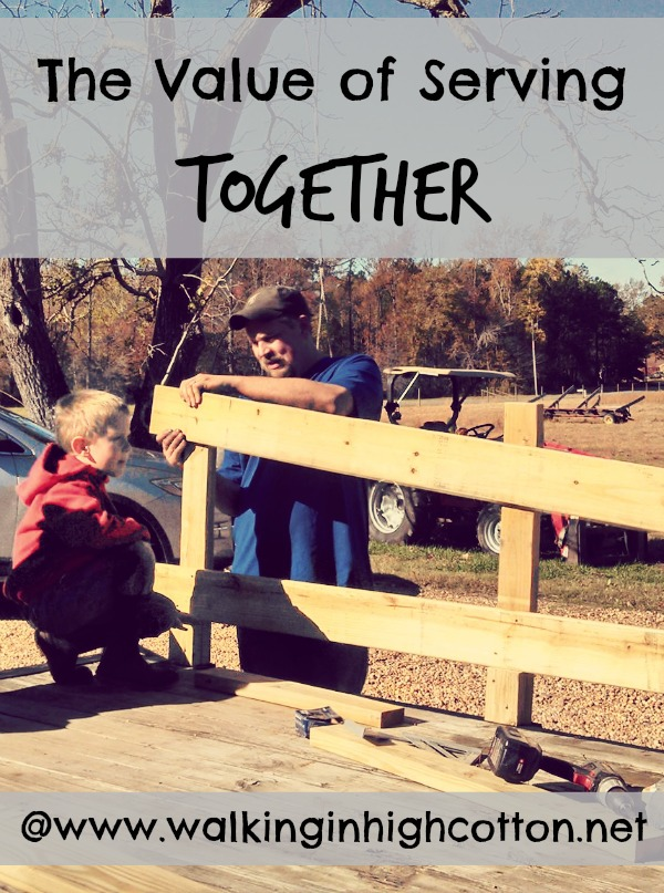 The value of serving TOGETHER, as a couple, in your church or community. {via www.walkinginhighcotton.net}