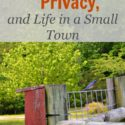 Blogging, Privacy, and Life in a Small Town (via Walking in High Cotton)