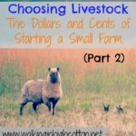 Choosing Livestock (Part 2) …the Dollars and Cents of Starting a Small Farm