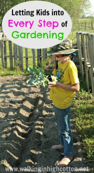 Letting Kids Help with Every Step of Gardening via Walking in High Cotton