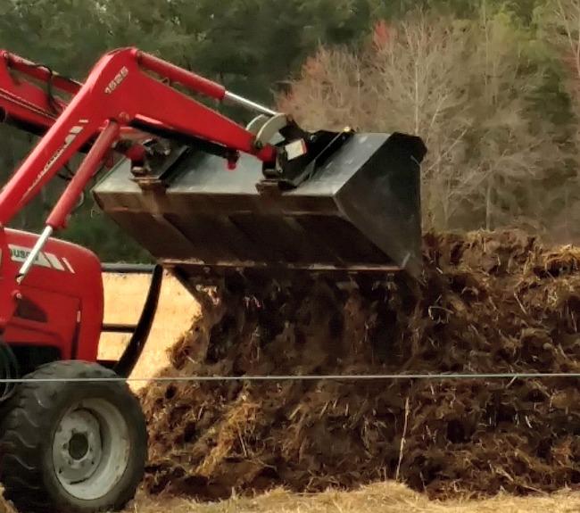 composting winter bedding