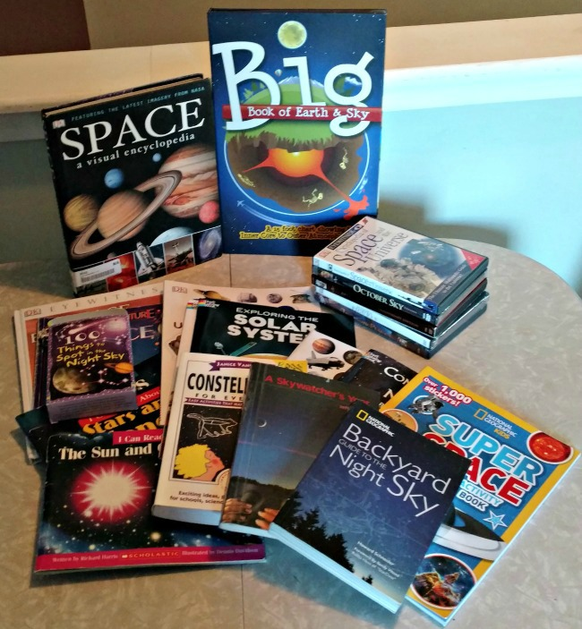 Books and resources about space for a family unit study via Walking in High Cotton
