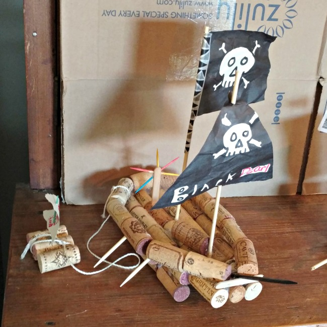 building pirate ships with corks
