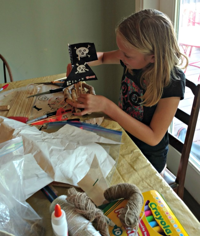 building pirate ships out of corks