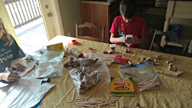building pirate ships from corks