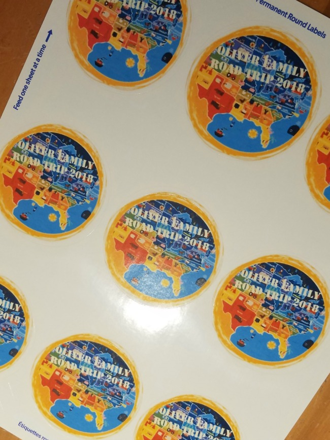DIY Travel Stickers @ Walking in High Cotton. Slap them on your gear and head off for your adventures! Easy, thrifty, fun!