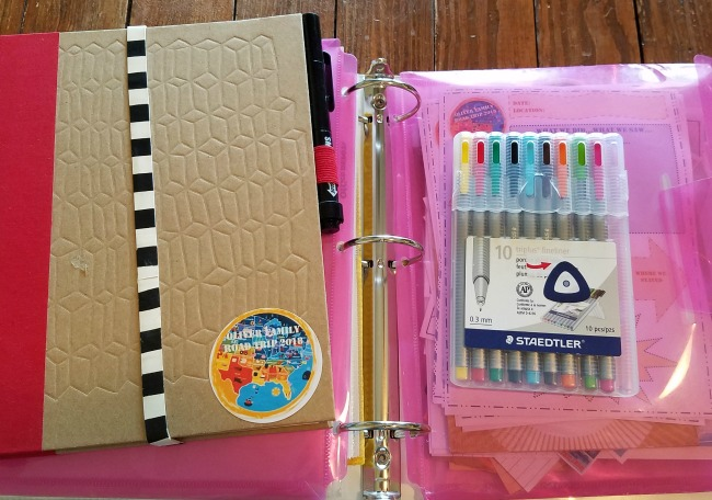 family road trip journal with FREE Printable via Walking in High Cotton