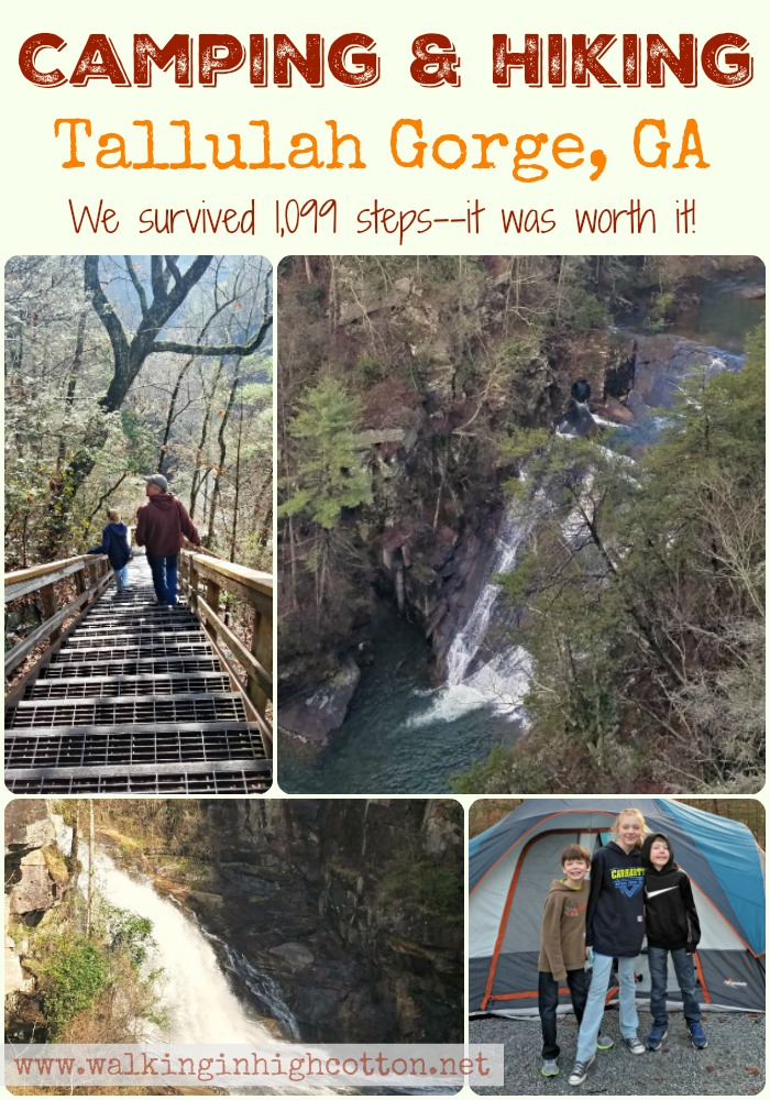 Camping and Hiking at Tallulah Gorge State Park in Georgia...we came, we saw, we walked 1,099 steps--it was beautiful! You should do it! via Walking in High Cotton