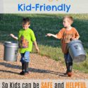 How to make the homestead kid-friendly...so kids can be SAFE and HELPFUL on the farm. Adjusting your mechanics (and your expectations) to meet your little helpers! via Walking in High Cotton