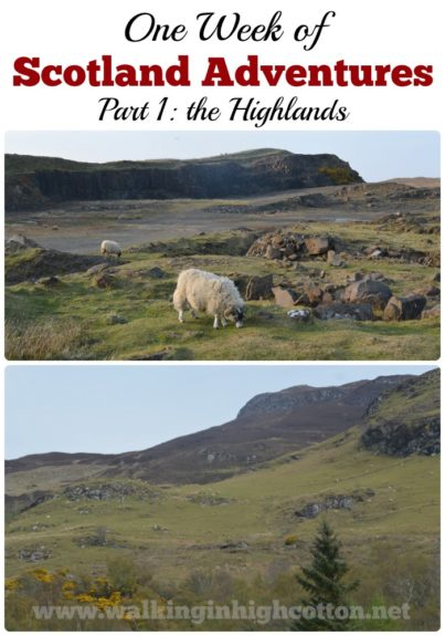 A recap of our adventures in the Scottish Highlands in April. via Walking in High Cotton