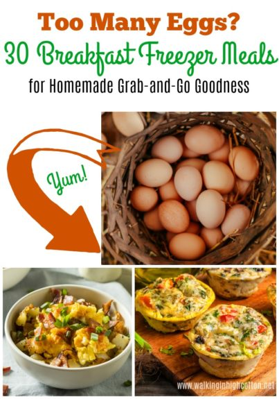 Too many eggs? 30 Breakfast Freezer Meals for homemade grab-and-go goodness!