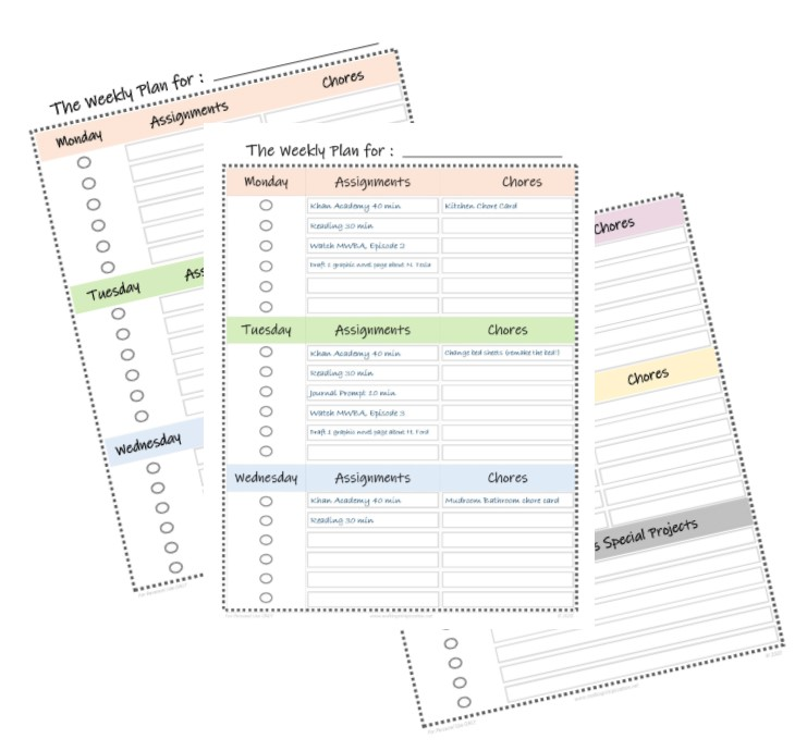 Daily Learning Routine for the Non-Homeschool Moms, with FREE Printable weekly schedule and assignment sheets.Perfect for organizing and managing these challenging times in quarantine OR for transitioning from school to summer break. Via Walking in High Cotton