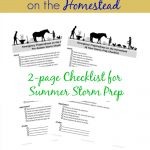 How To Prep for Summer Storms, Emergency Preparedness Checklist for the Homestead